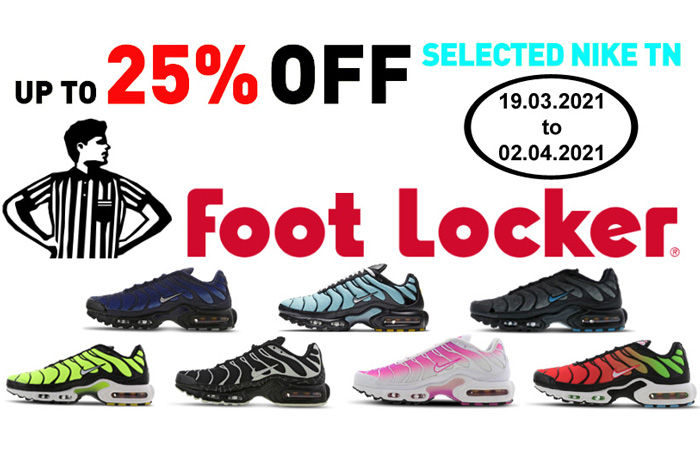 25% Off On Selected Nike TN Air Max Plus At Footlocker ft
