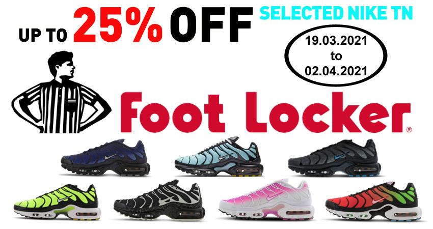 25% Off On Selected Nike TN Air Max Plus At Footlocker
