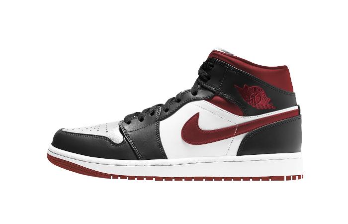 Air Jordan 1 Mid Oreo Metallic Red 554724-122 01