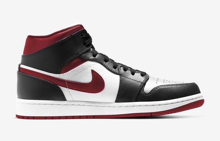 Air Jordan 1 Mid Oreo Metallic Red 554724-122 02