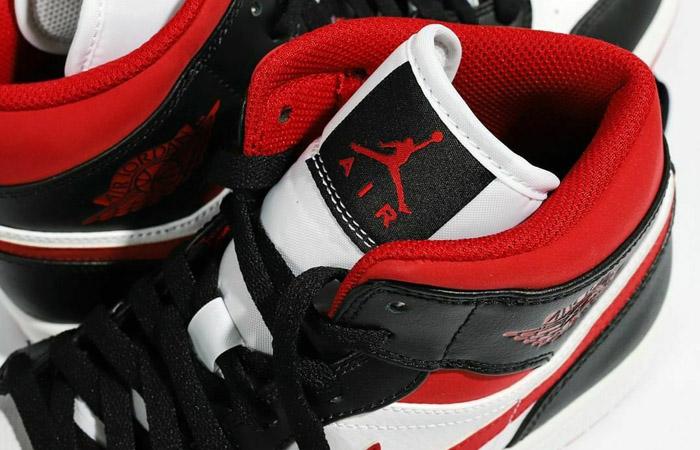 Air Jordan 1 Mid Oreo Metallic Red 554724-122 07