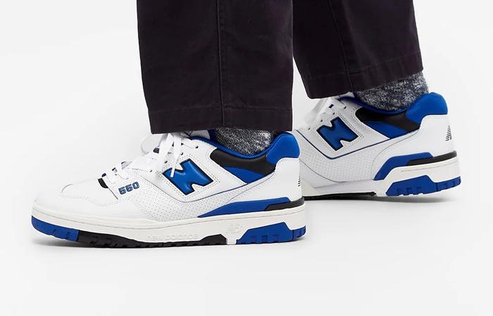 New Balance 550 White Blue BB550SN1 on foot 02
