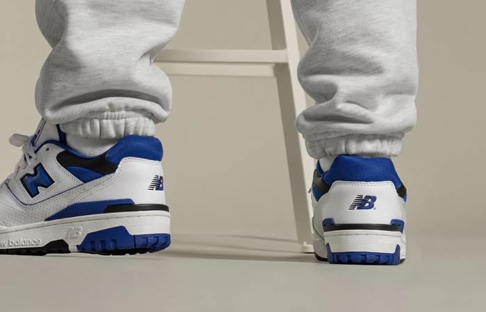 New Balance 550 White Blue BB550SN1 on foot 03