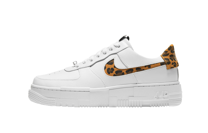Nike Air Force 1 Pixel Leopard White Womens CV8481-100 01