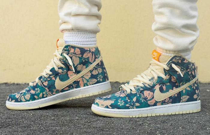 Nike Dunk High Hawaii CZ2232-300 on foot 01