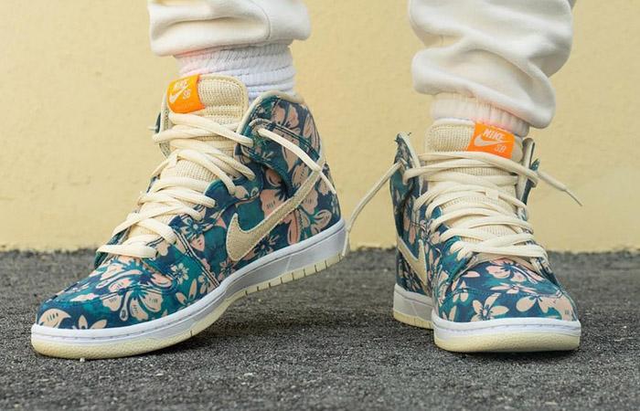 Nike Dunk High Hawaii CZ2232-300 on foot 02