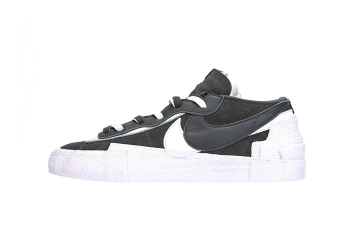 Sacai Nike Blazer Low Dark Grey White DD1877-002 01