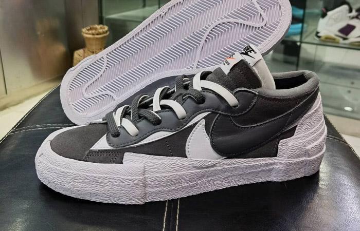 Sacai Nike Blazer Low Dark Grey White DD1877-002 02