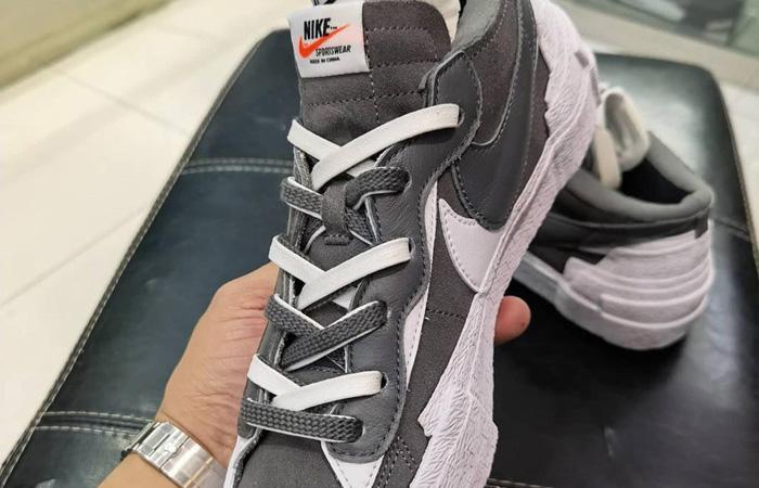 Sacai Nike Blazer Low Dark Grey White DD1877-002 03