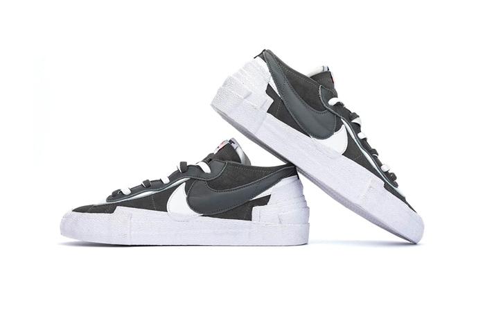 Sacai Nike Blazer Low Dark Grey White DD1877-002 05