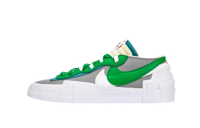 Sacai Nike Blazer Low Medium Grey Classic Green DD1877-001 01