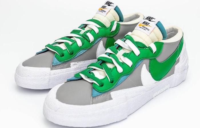 Sacai Nike Blazer Low Medium Grey Classic Green DD1877-001 02