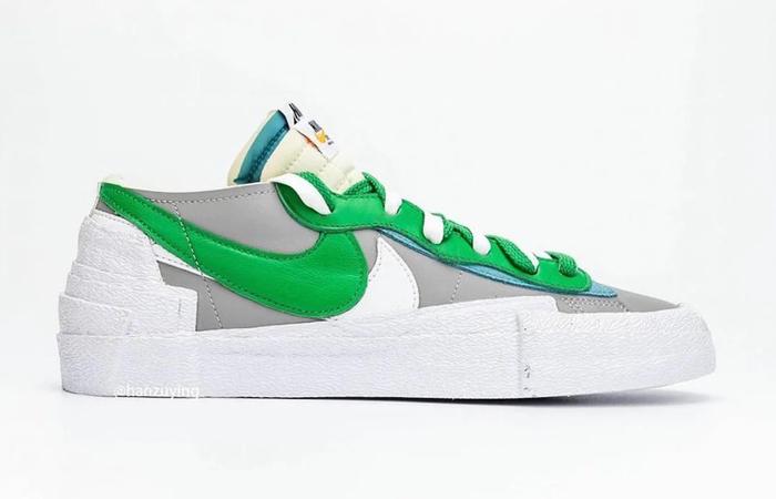 Sacai Nike Blazer Low Medium Grey Classic Green DD1877-001 03