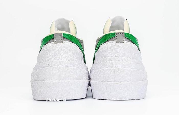 Sacai Nike Blazer Low Medium Grey Classic Green DD1877-001 05
