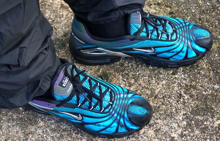 Skepta Nike Air Max Tailwind V Chrome Blue CQ8714-001 on foot 01