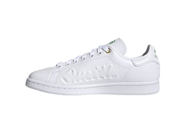adidas Stan Smith Cloud White Green Womens FY5464 01