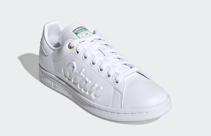 adidas Stan Smith Cloud White Green Womens FY5464 02