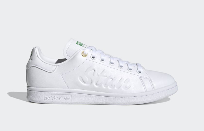 adidas Stan Smith Cloud White Green Womens FY5464 03