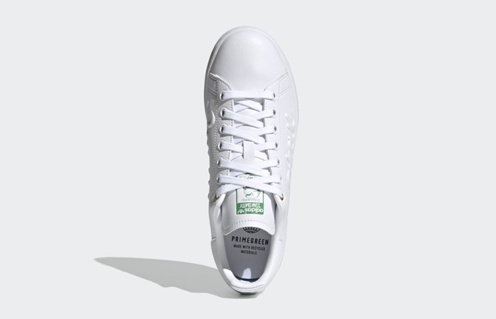 adidas Stan Smith Cloud White Green Womens FY5464 04