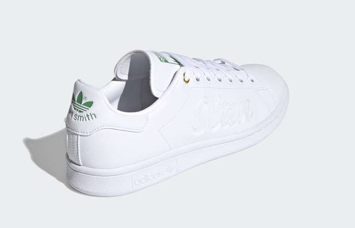 adidas Stan Smith Cloud White Green Womens FY5464 05