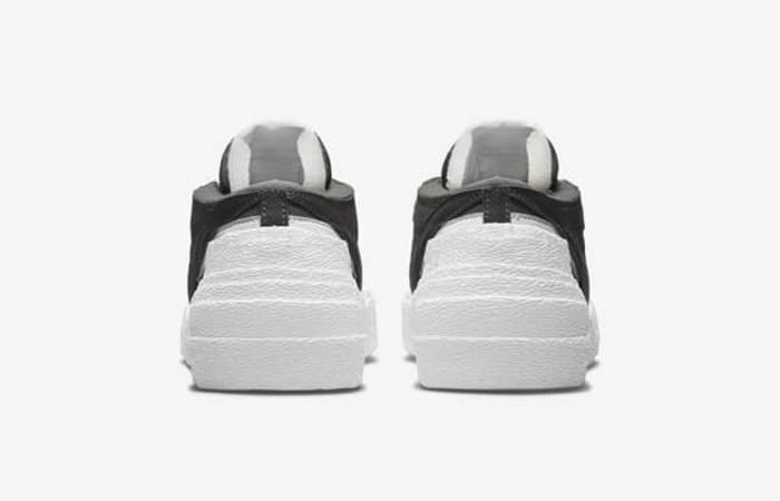 sacai Nike Blazer Low Dark Grey White DD1877-002 back