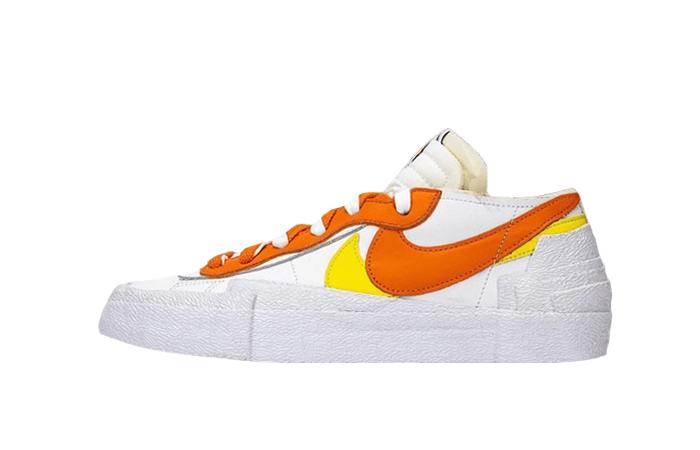 sacai Nike Blazer Low White Magma Orange DD1877-100 01