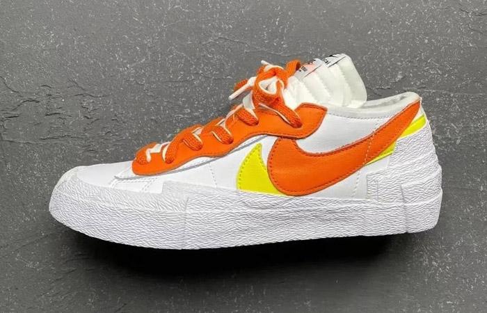 sacai Nike Blazer Low White Magma Orange DD1877-100 02