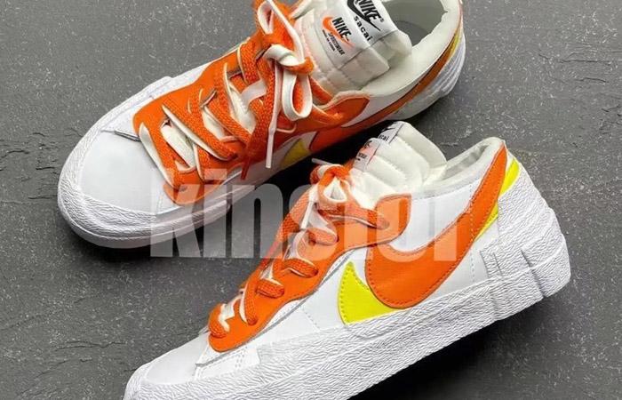 sacai Nike Blazer Low White Magma Orange DD1877-100 04