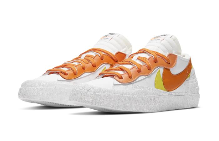 sacai Nike Blazer Low White Magma Orange DD1877-100 05