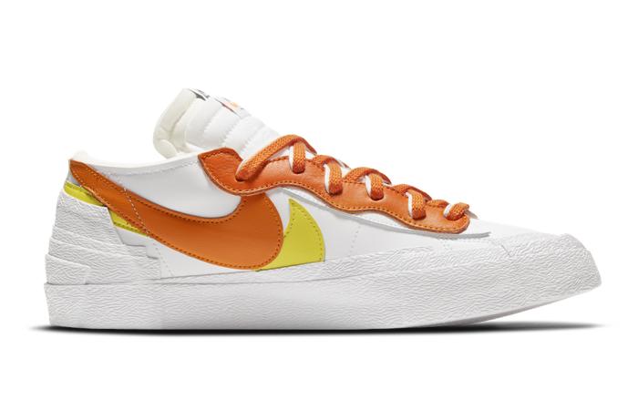 sacai Nike Blazer Low White Magma Orange DD1877-100 06