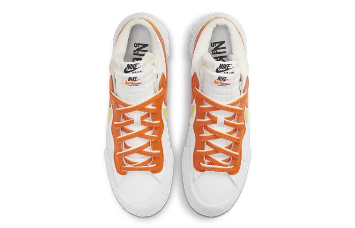sacai Nike Blazer Low White Magma Orange DD1877-100 07