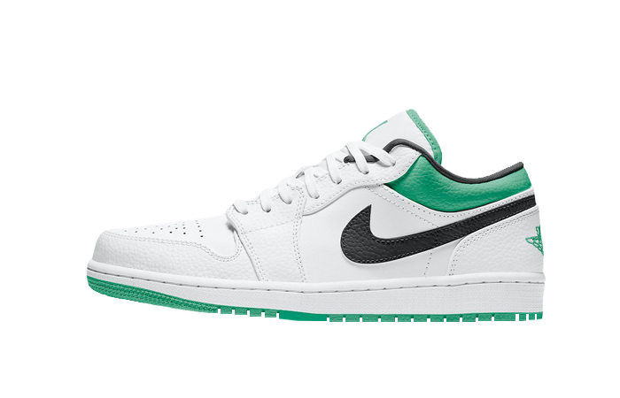 Air Jordan 1 Low Lucky Green White 553558-129 01