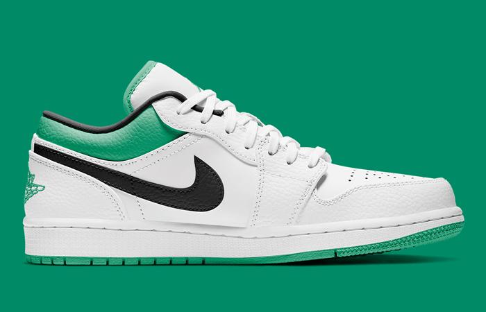 Air Jordan 1 Low Lucky Green White 553558-129 02