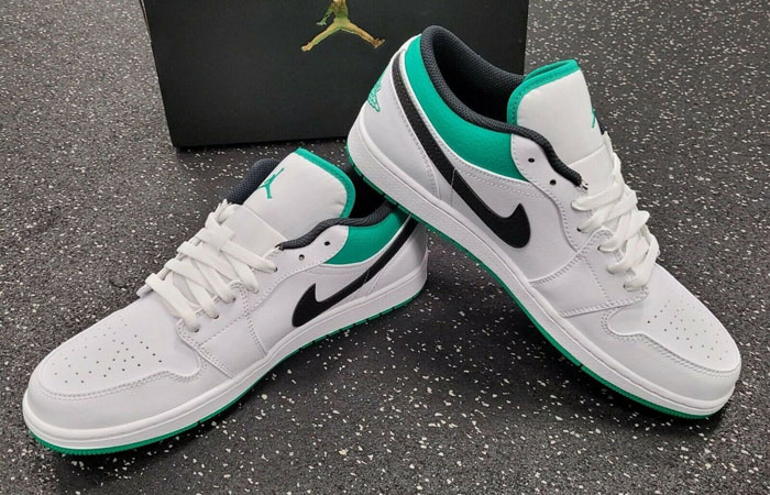 Air Jordan 1 Low Lucky Green White 553558-129 03