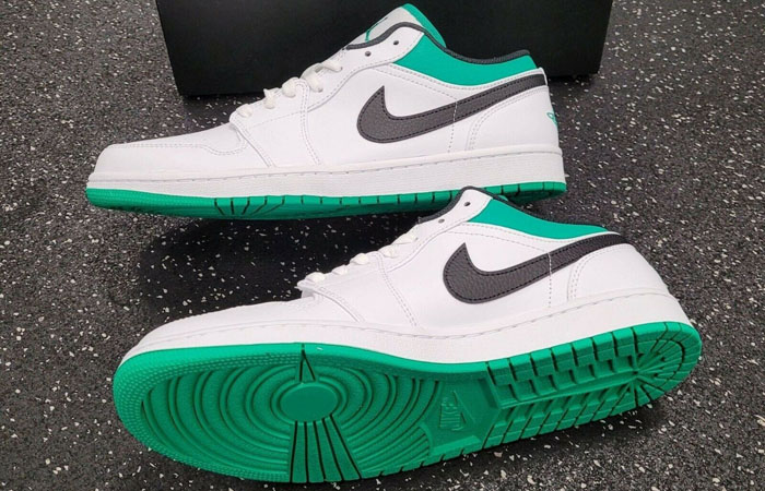 Air Jordan 1 Low Lucky Green White 553558-129 04