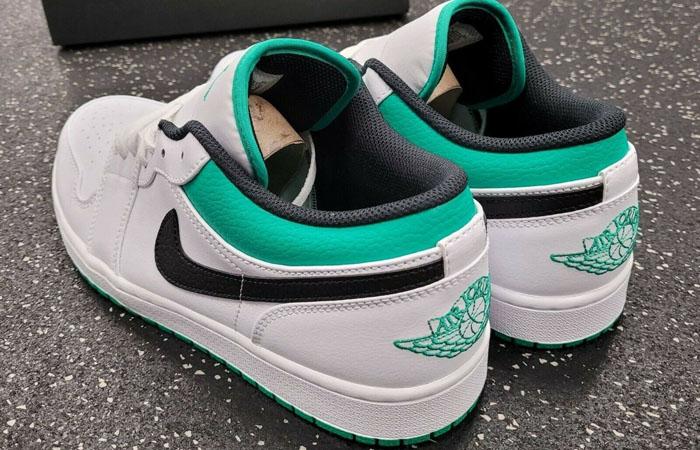 Air Jordan 1 Low Lucky Green White 553558-129 05