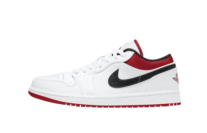 Air Jordan 1 Low White University Red 553558-118 01