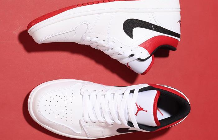 Air Jordan 1 Low White University Red 553558-118 03