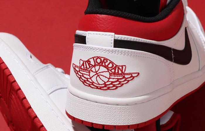 Air Jordan 1 Low White University Red 553558-118 05