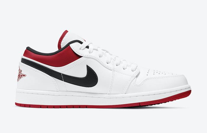 Air Jordan 1 Low White University Red 553558-118 06
