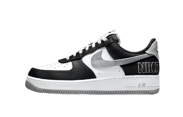 Nike Air Force 1 EMB Black Silver CT2301-001 01