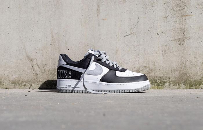 Nike Air Force 1 EMB Black Silver CT2301-001 02