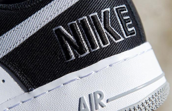 Nike Air Force 1 EMB Black Silver CT2301-001 04