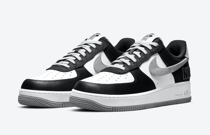 Nike Air Force 1 EMB Black Silver CT2301-001 05