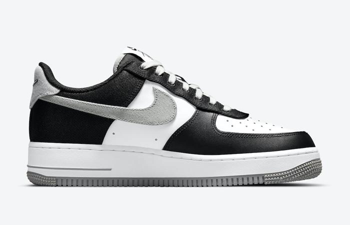 Nike Air Force 1 EMB Black Silver CT2301-001 06