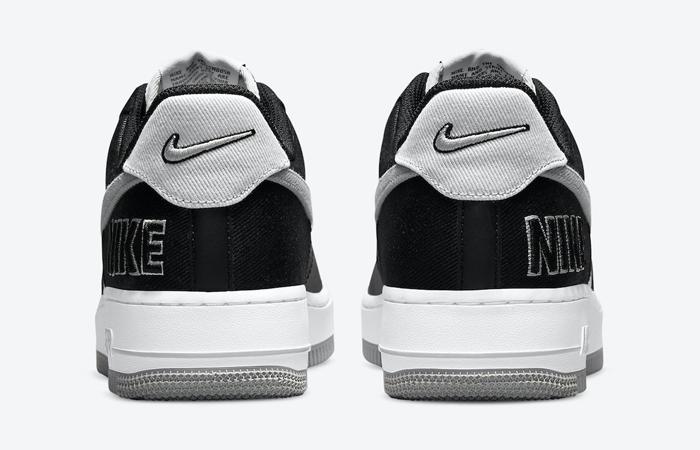 Nike Air Force 1 EMB Black Silver CT2301-001 08