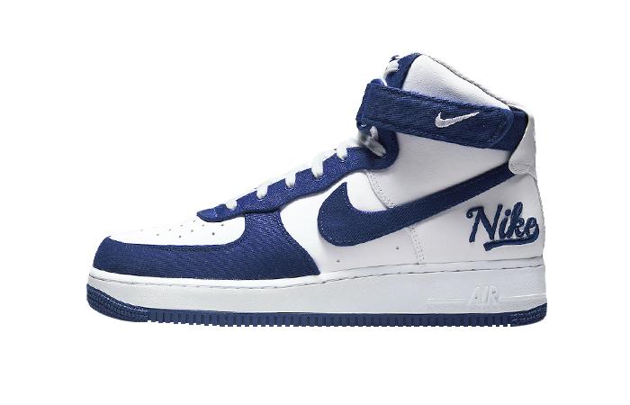 Nike Air Force 1 High EMB Dodgers White Blue DC8168-100 01