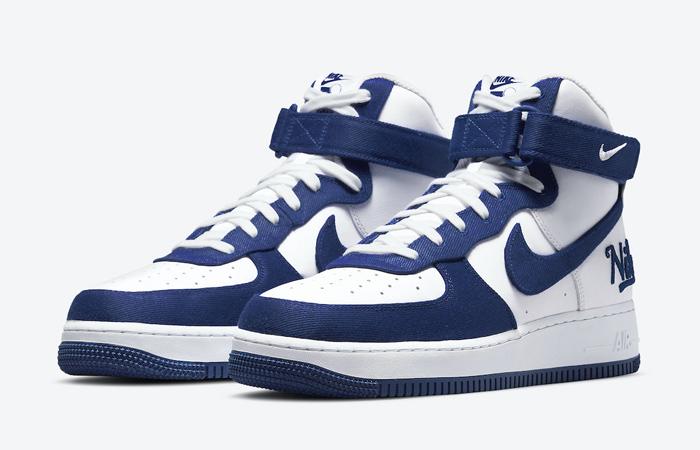 Nike Air Force 1 High EMB Dodgers White Blue DC8168-100 02