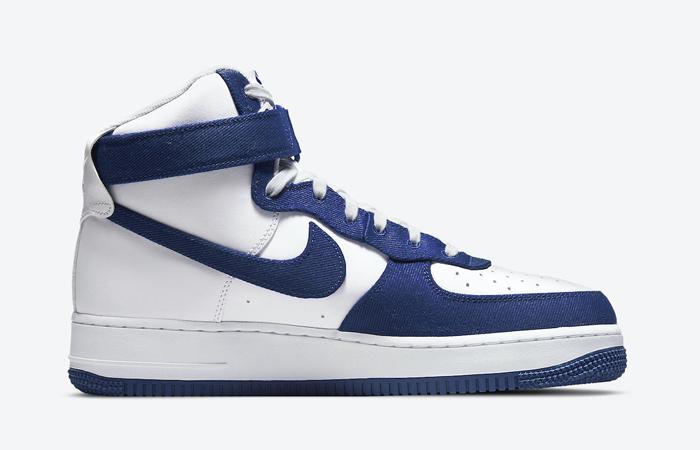 Nike Air Force 1 High EMB Dodgers White Blue DC8168-100 03