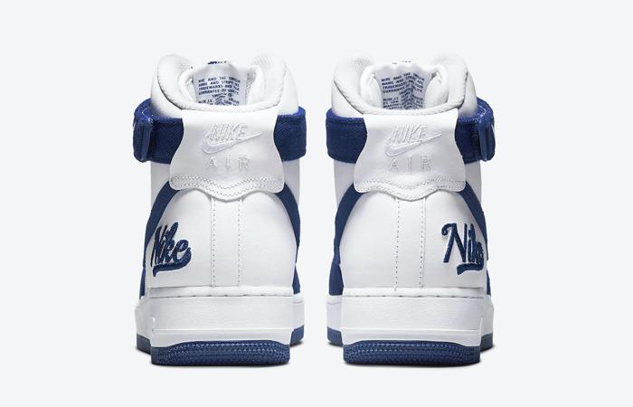 Nike Air Force 1 High EMB Dodgers White Blue DC8168-100 05